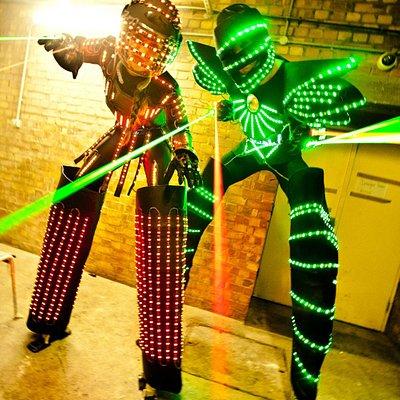 Male & female LED robots