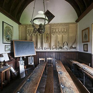 The schoolroom.  It has remained untouched for 100 years.
