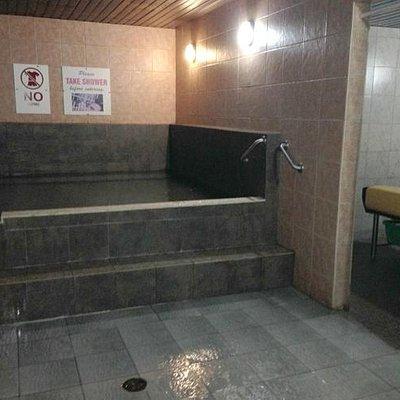 hot pool, scrub area