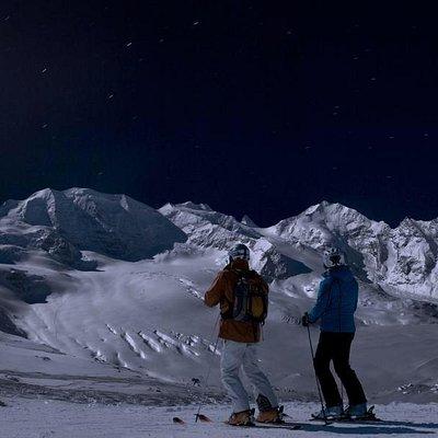 Fullmoon skiing - Magical!