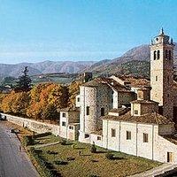 Il Santuario della Madonna dell'Aiuto in Bobbio visto da Corgnate