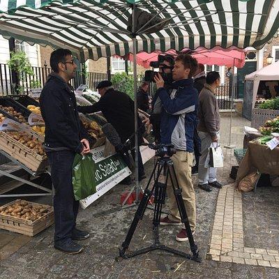 BBC at Richmond farmers market