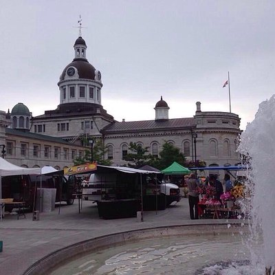 A grey day at the Kingston Public Market (Oct 2014). Lots of baked goods, produce, crafts!