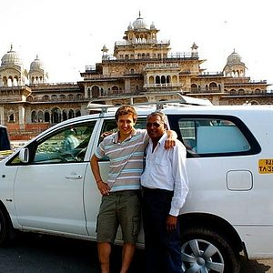 Tarachand Sharma- with Tourist at India Private Chauffeur