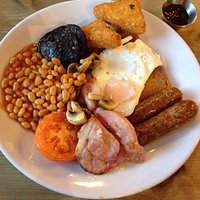 Full English breakfast - heartily endorsed by my English husband!
