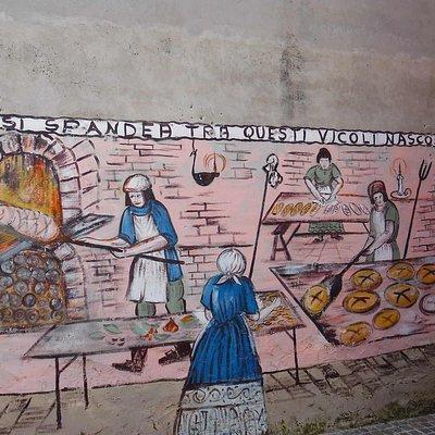 historical bread making scene