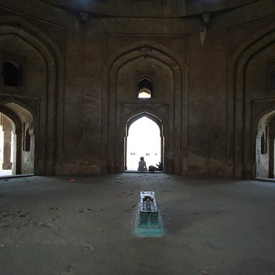 Inside of the tomb.