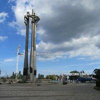 Drei Kreuze 2009 - noch ohne Solidarnosc Museum