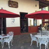Outdoor seating on the edge of the Zocalo