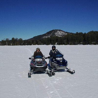 On a frozen Loon Lake
