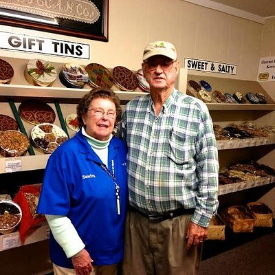Clarence and Sandra Bishop, owners of B&B Pecans in Fairhope, AL