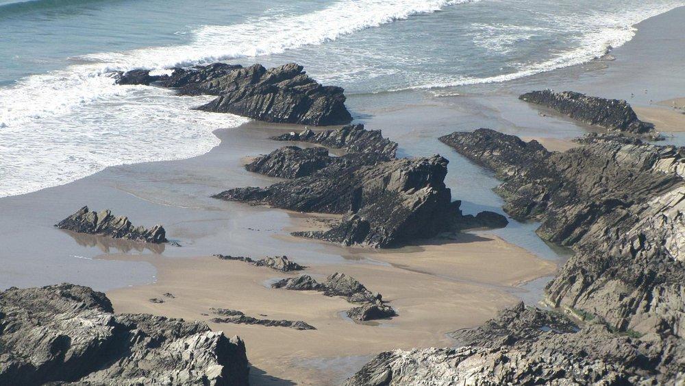 Warren beach at low tide