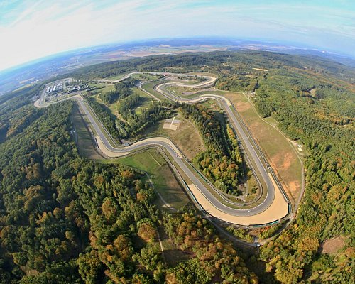 Aerial view on the Brno Circuit (also know as Masaryk Circuit)