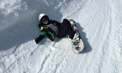 George relaxing on the slopes...