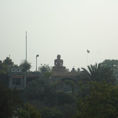The Ahinsa Sthal as seen from tomb of Azim Khan.
