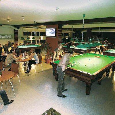 Entry Billiards and Sport Bar interior