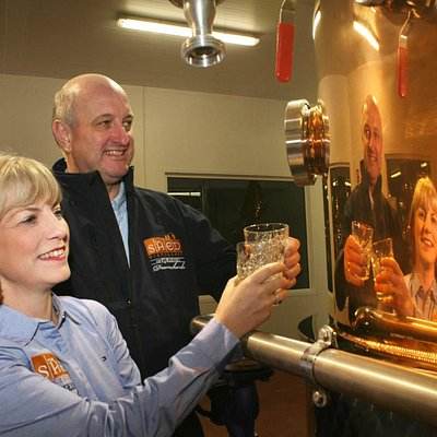 The Shed Distillery of PJ Rigney Drumshanbo - the two founders