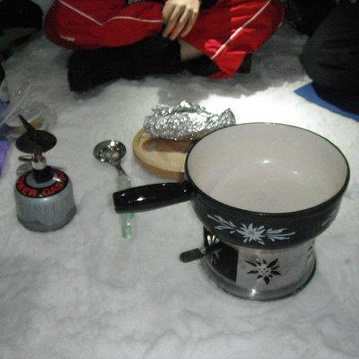repas dans l'igloo