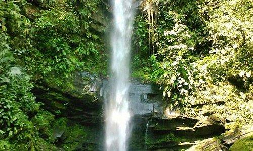 hermosa caída de agua