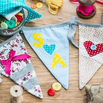 Just an example of some bunting made from a Hen Party