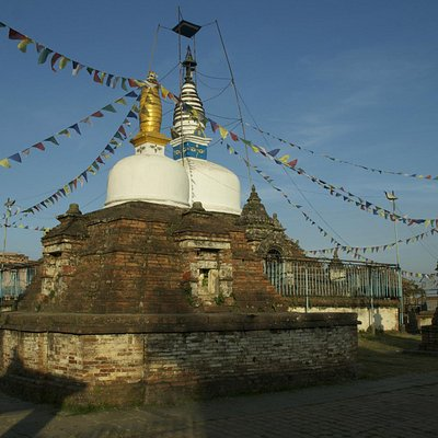 View of the Stupa from the side
