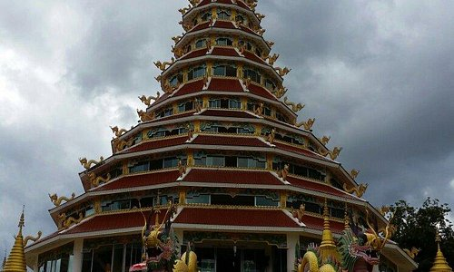 Front view of pagoda