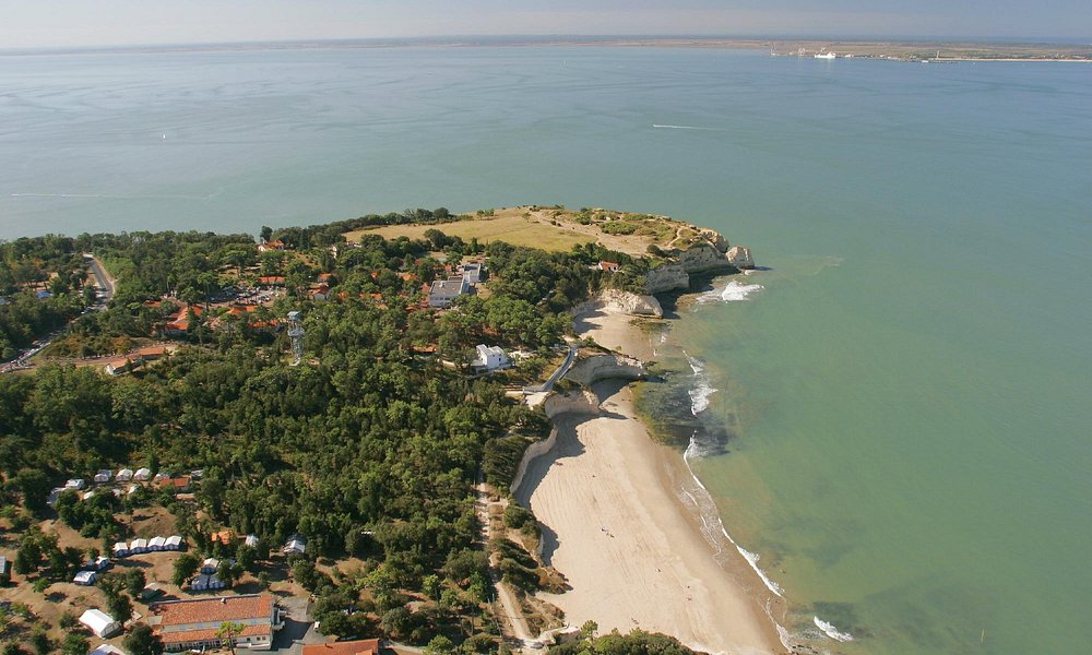 vue aérienne du Parc de l'Estuaire et de la pointe de Suzac - crédit JP Boulesteix