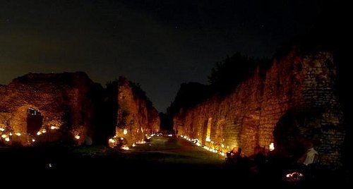 Priory by candlelight