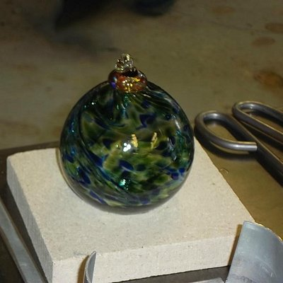 Finished glass ball