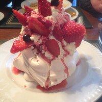 Strawberry Pavlova at The a Lemon Tree