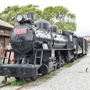展示してある蒸気機関車
