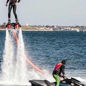 Flyboarding at Port Melbourne