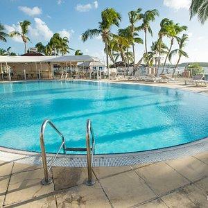 The Main Pool at the Hotel Le Flamboyant