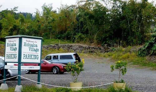 Parking Lot in Holulaloa Village