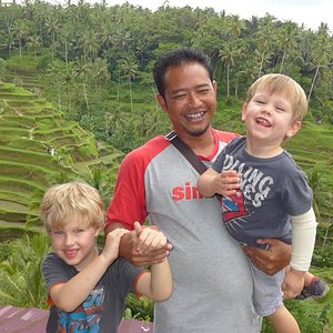 Putu with our 2 boys. March 2015. Thanks for a great couple of days.