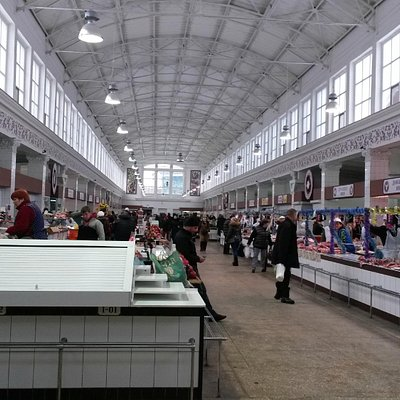 Interior of the food market