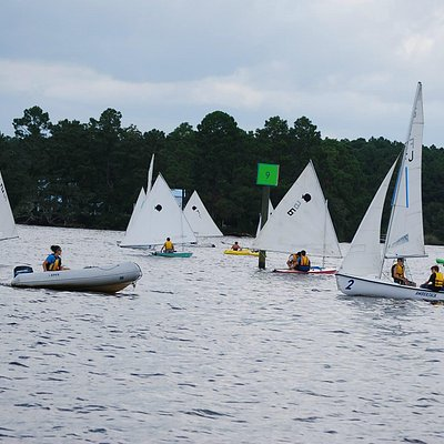 One of our many Groups!!! We also offer larger boats, instruction, and charters.