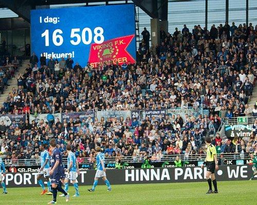 Viking stadion med publikum