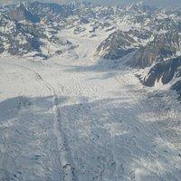 ancient glacier in the valley below Denali
