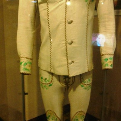 2 pc leather suit made by North Beach Leather worn by Elvis in Vegas