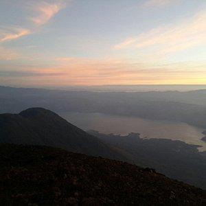 Desde la cumbre Volcán Atitlán