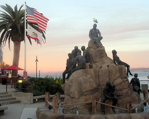 The Cannery Row Monument, Steinbeck Plaza, Monterey, Ca