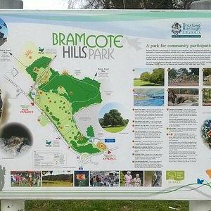 Bramcote Hills Park information board
