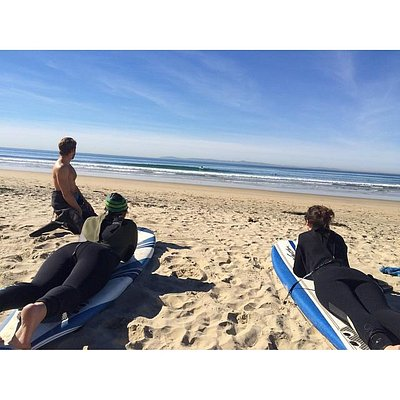 Beautiful day for Newport Beach surf lessons from Surfing Friends Surf Lessons
