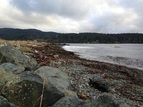 Nice rocky beach to walk on.