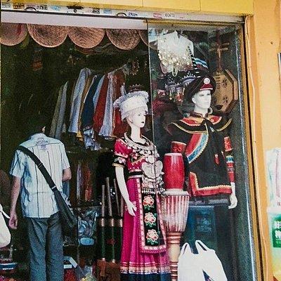 Ethnic clothing outside mall
