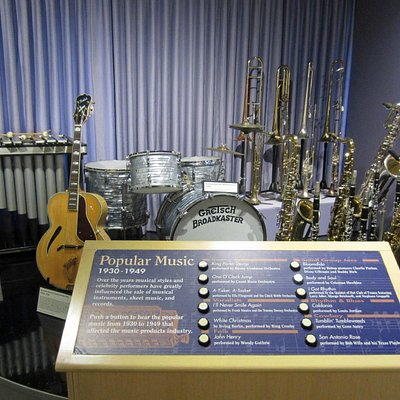 Samples of music from the era can be selected for play
