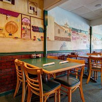 Dining Room with beautiful murals