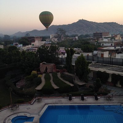 Wonderful view from the hotel in Jaipur