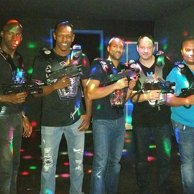 Lasertag party very funny with my friends